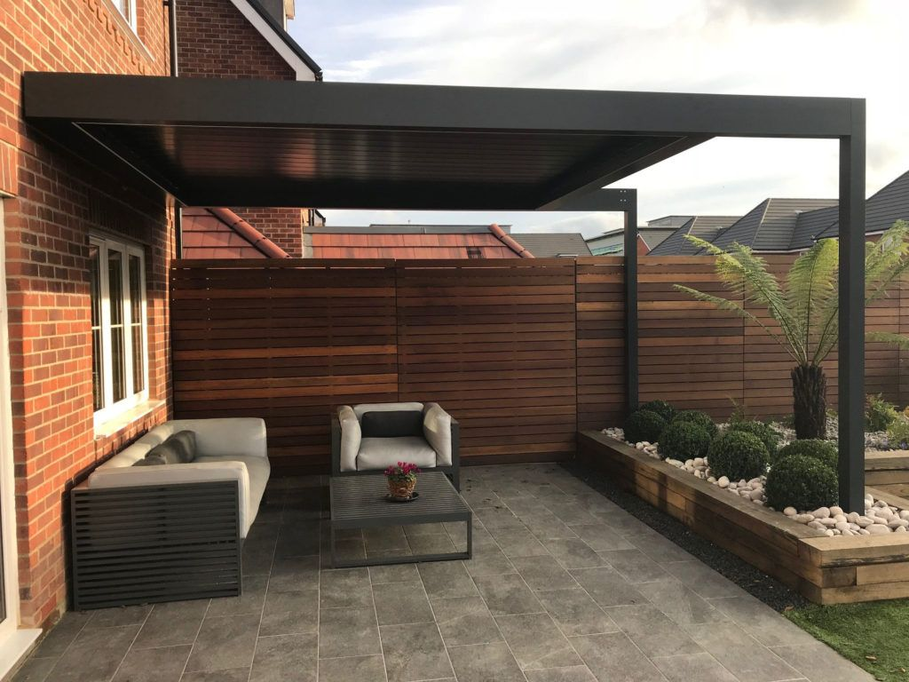 A slim framed #Umbris roof has offered our client Graham a ... on Bespoke Outdoor Living id=81789