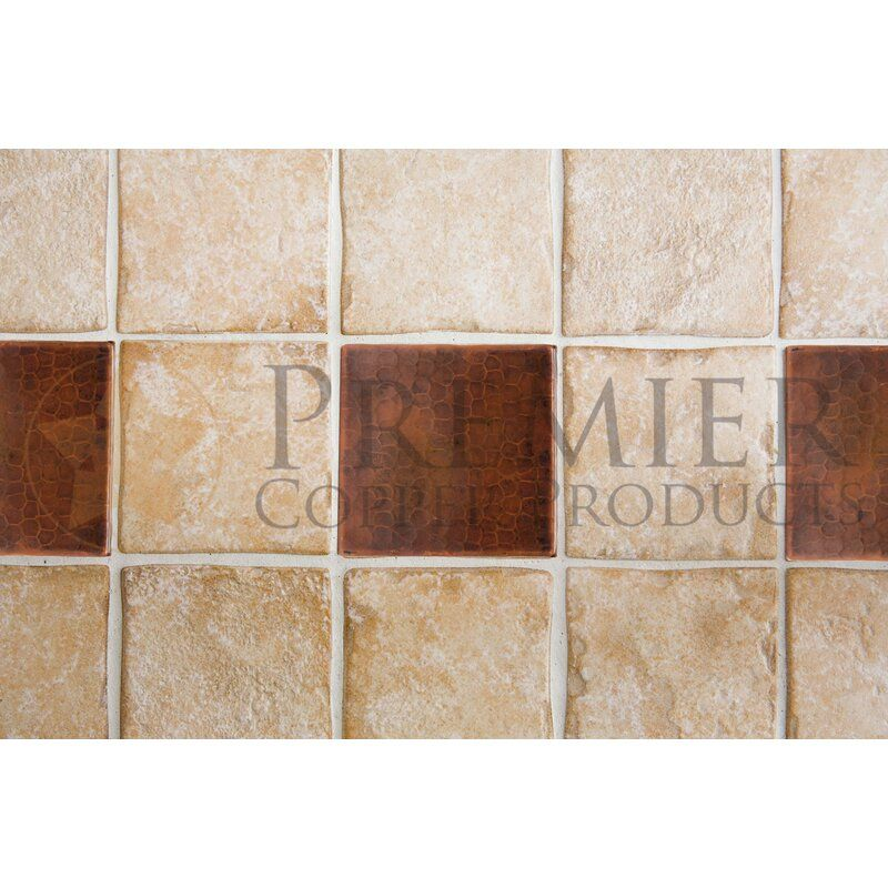 4 X 4 Copper Hammered Tile In Oil Rubbed Bronze In 2020 Decorative Wall Tiles Metallic Wall Tiles Metal Mosaic Tiles