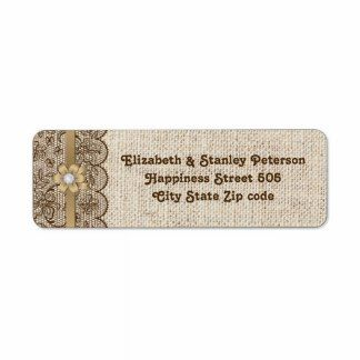 Wedding Return Address Labels Templates