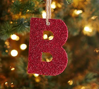 German Glitter Alphabet Ornaments Red In 2020 Letter Ornaments Christmas Ornaments Pottery Barn Christmas