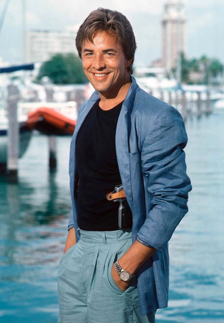 don johnson as 'sonny crockett' in miami vice (1984-89, nbc