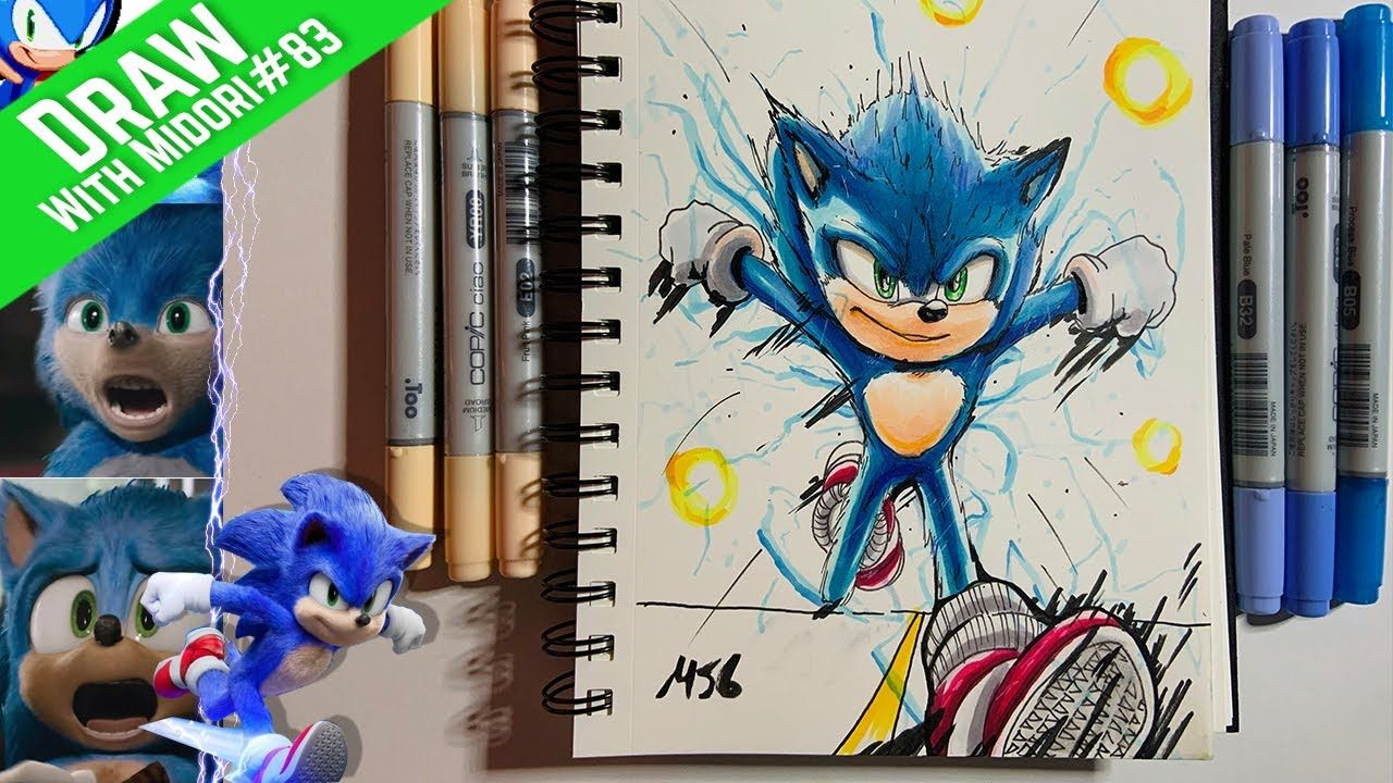 Lets Draw Sonic The Hedgehog Movie Redesign Hedgehog Movie