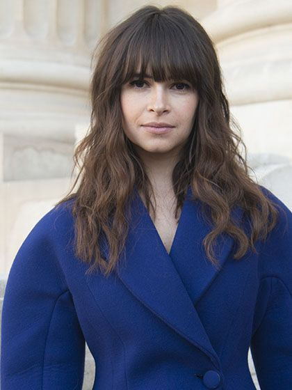 Fall Beauty Trends - Miroslava Duma's Full Bangs | allure.com