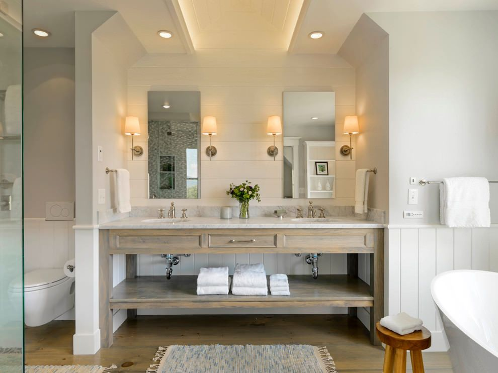 Attirant Farmhouse Style Bathrooms | 19+ Farmhouse Style Bathroom Designs,  Decorating Ideas | Design Trends