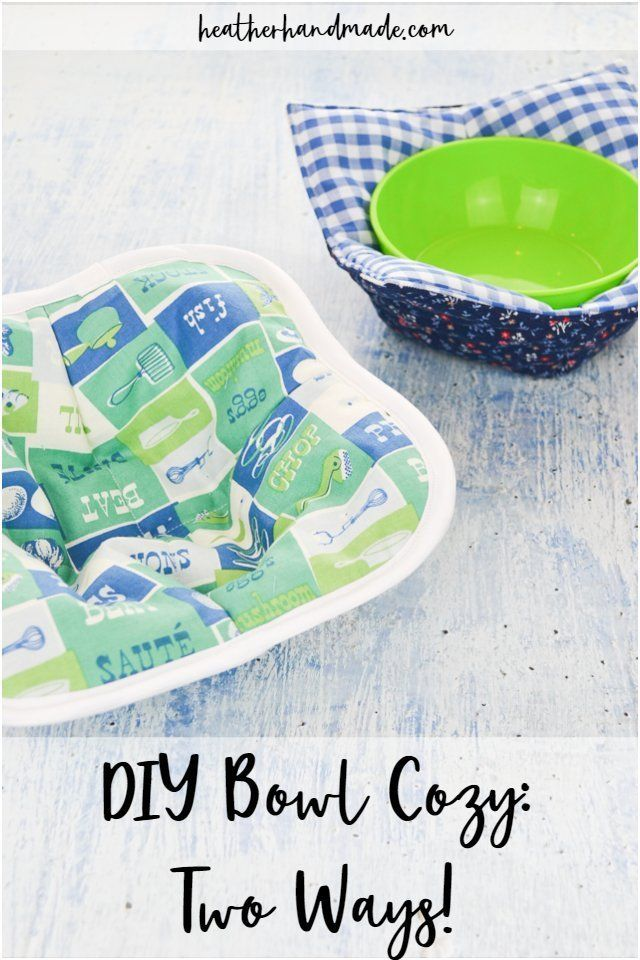 DIY Bowl Cozy: Two Ways! #scrapfabric