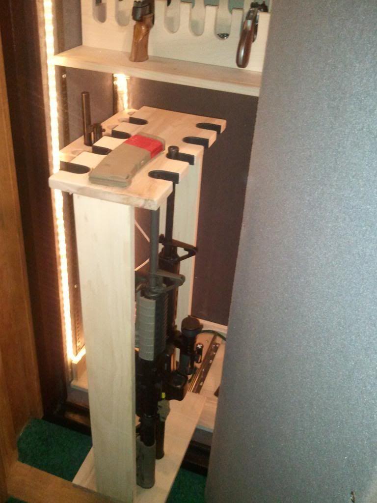 Sliding Gun Safe : Pull out drawer racks for long guns in safe ar