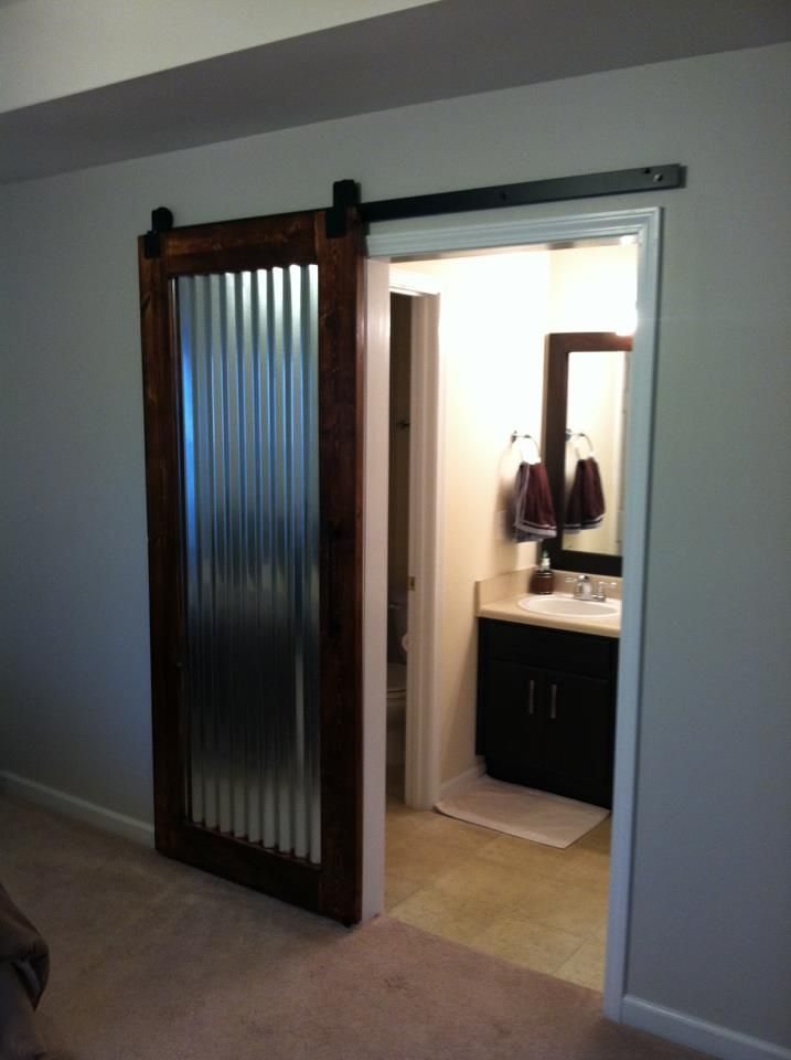 Custom Built Sliding Barn Door I Made Corrugated Metal