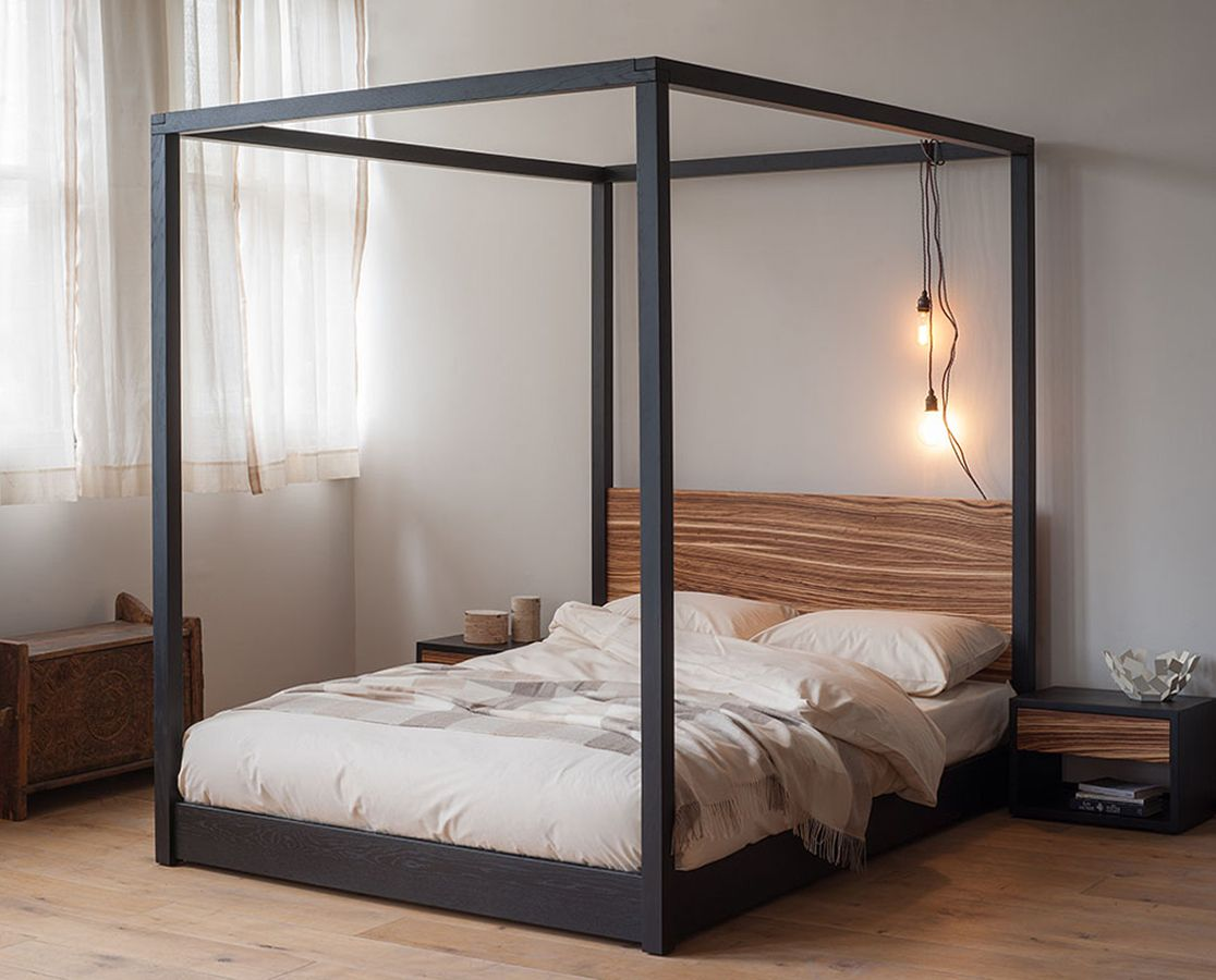 four poster from natural bed company the zebrano cube other timber options available