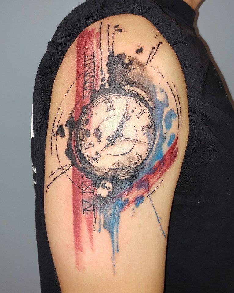 clock tattoo 16