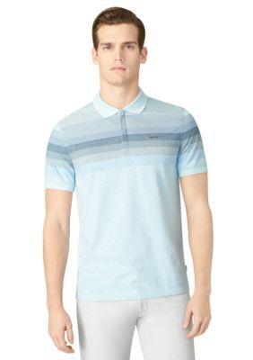 Calvin Klein  Short Sleeve Engineered Stripe Polo