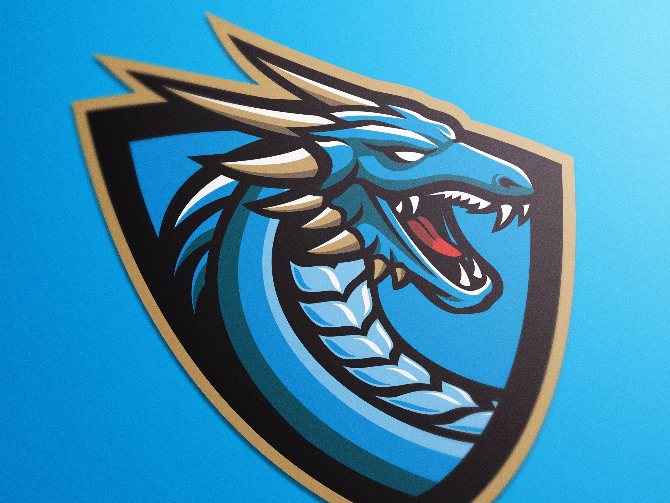 Blue Dragon imagens) Dragões, Dragão azul, Logotipo