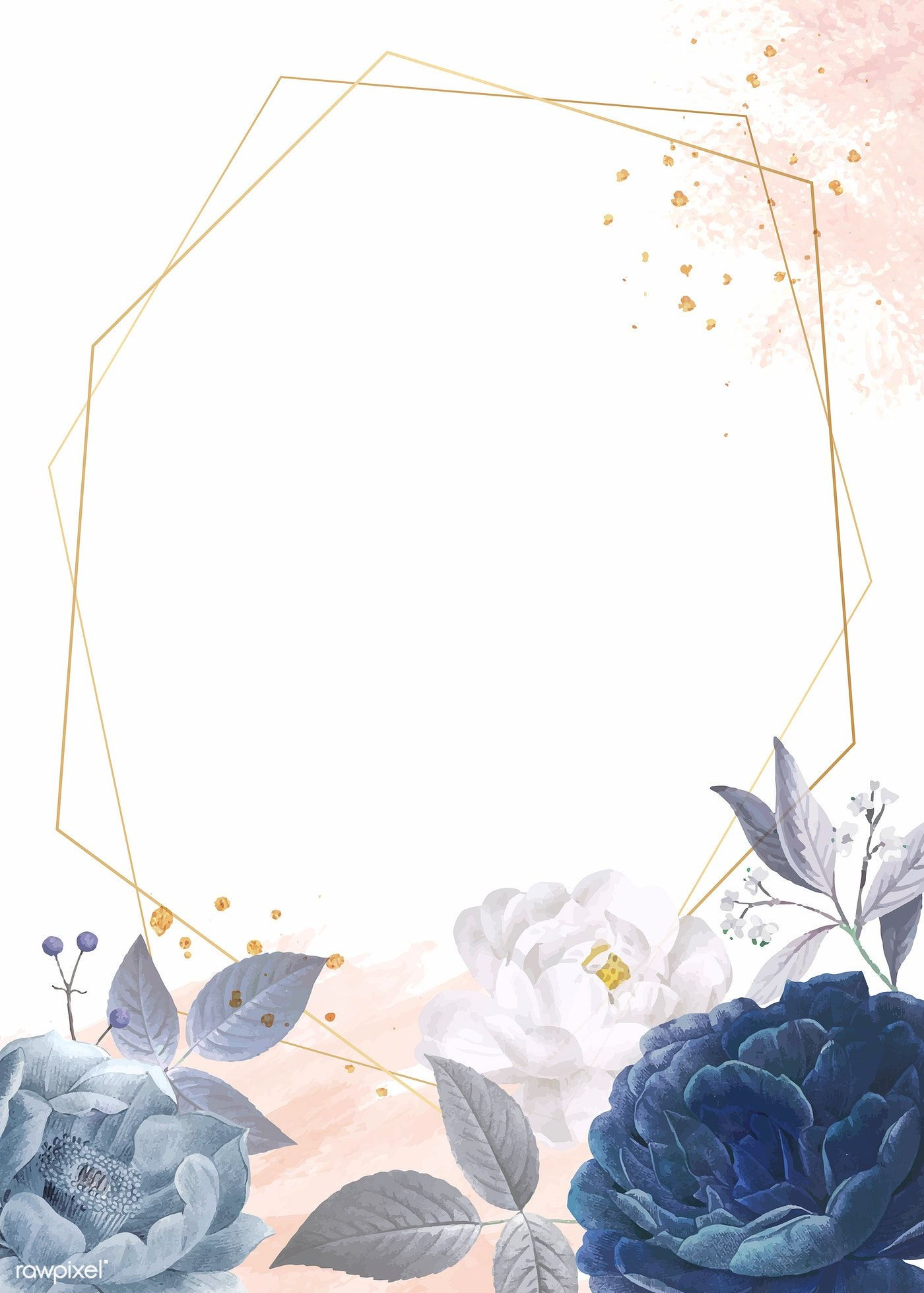 Download Premium Vector Of Blue Roses Themed Card Template Vector