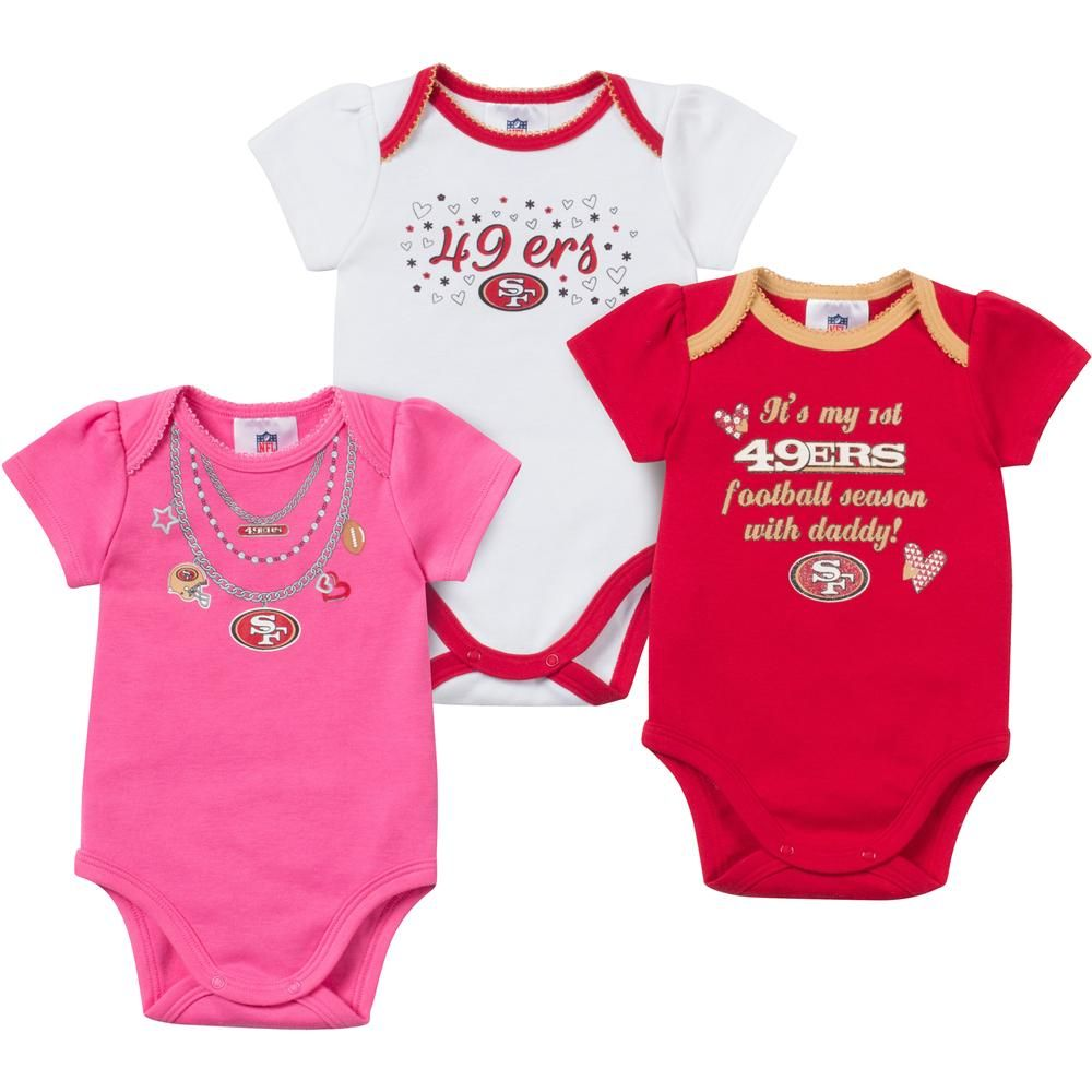Baby 49ers Girl Onesie 3 Pack. Baby 49ers Girl Onesie 3 Pack Nfl Kansas  City Chiefs ... 39280c226