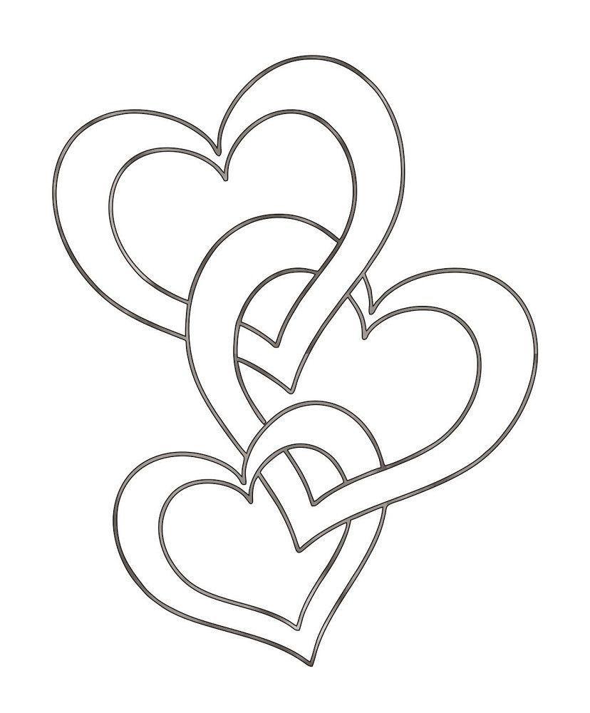 Hearts - Plasma Cut Metal Shape VAL19-M | Adornos, Escuela y Molde
