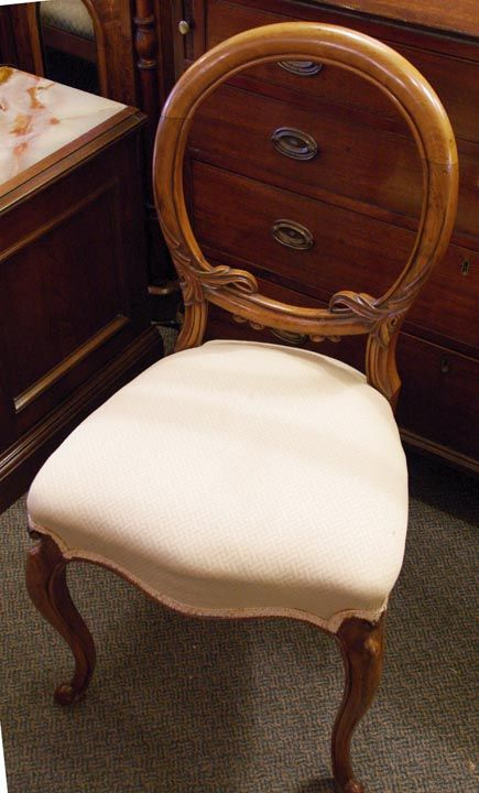 Furniture - Bernardi's Antiques - Toronto | Set of 4 Carved Mahogany  Balloon Back Chairs - - Furniture - Bernardi's Antiques - Toronto Set Of 4 Carved Mahogany