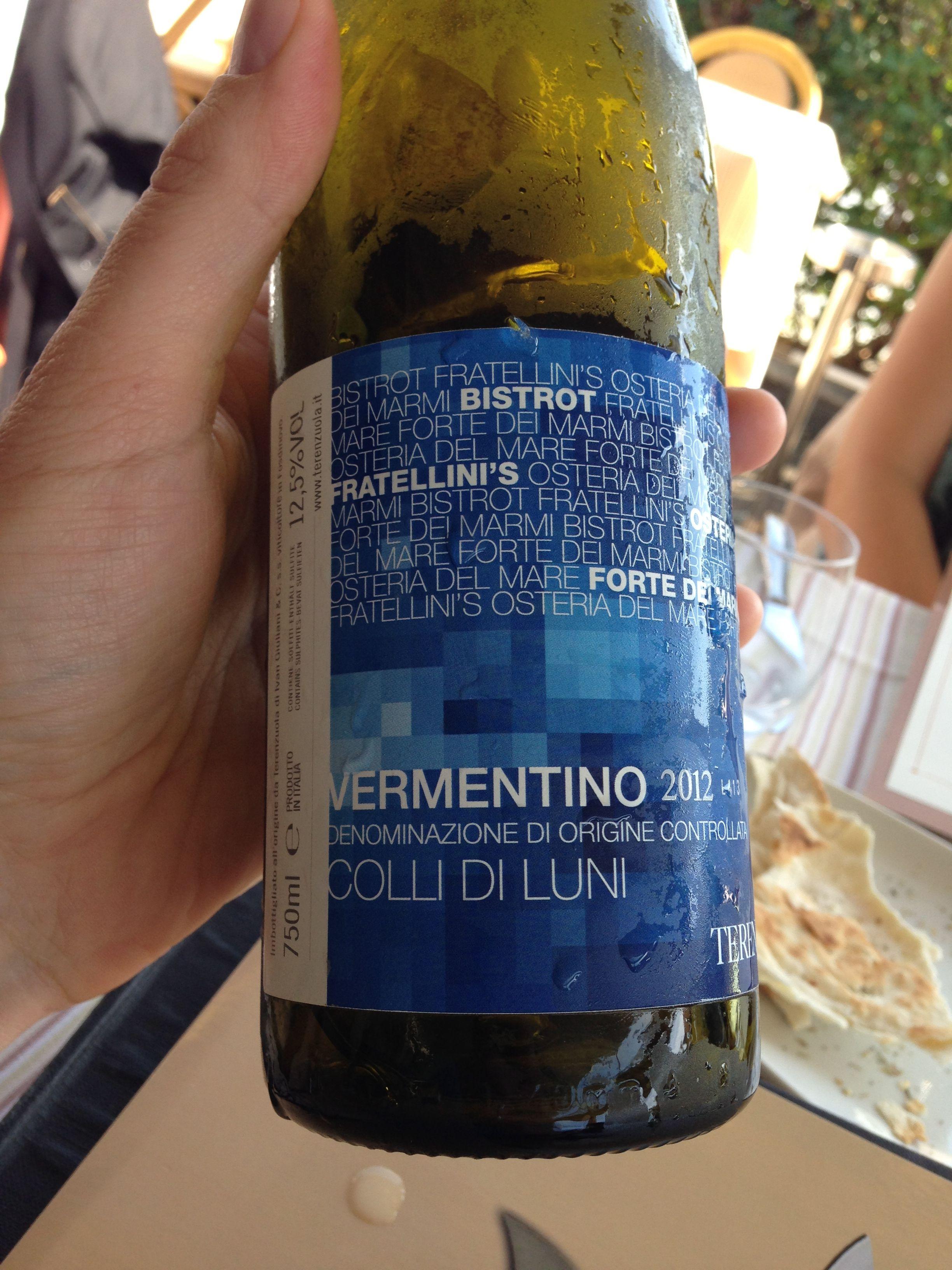 Vermentino Osteria Del Mare Forte Dei Marmi Water Bottle