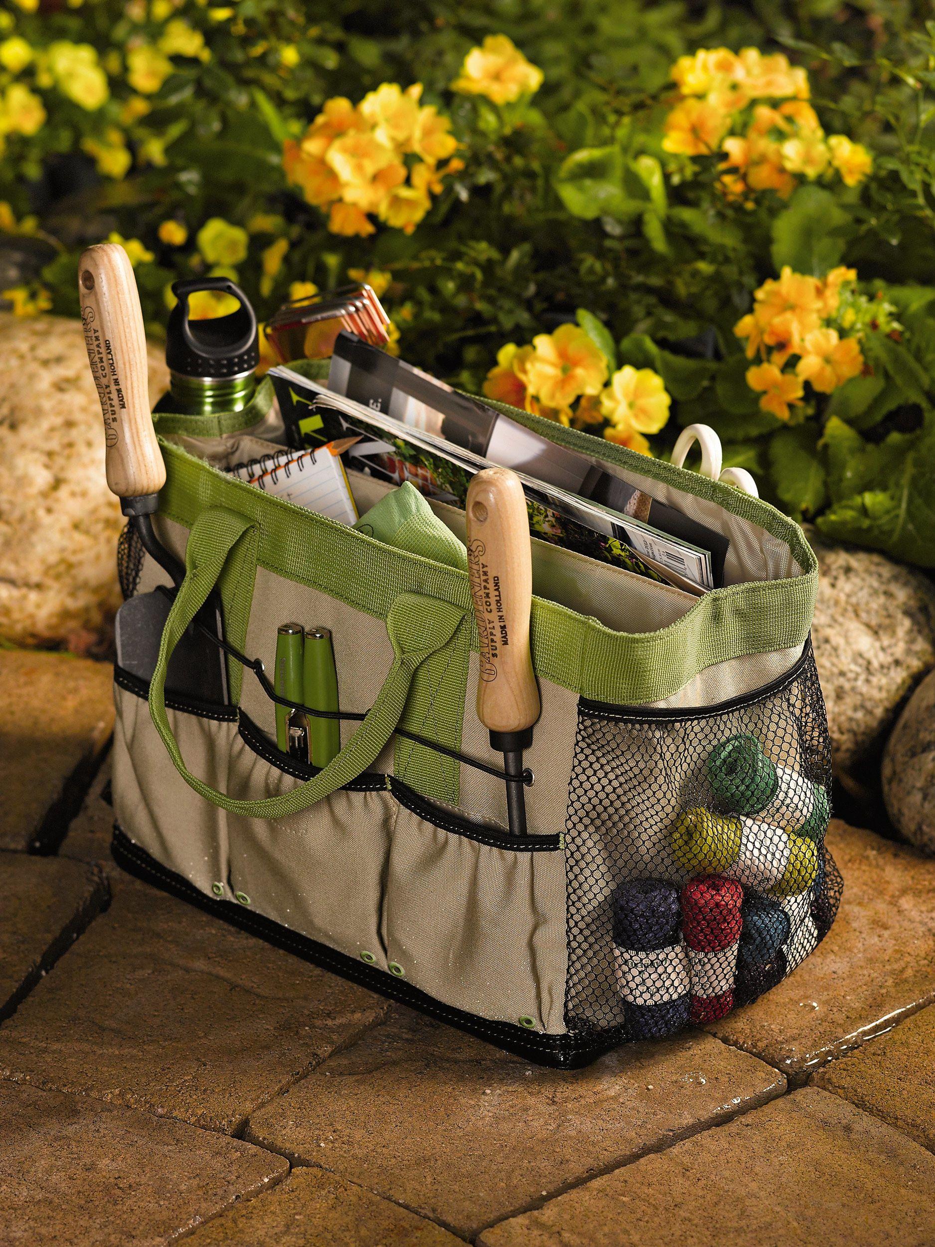 Gardeners puddleproof tool tote gardeners supply