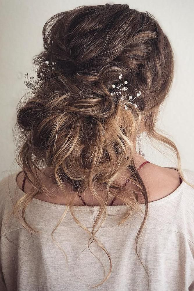 36 Rustic Wedding Hairstyles #messyupdos
