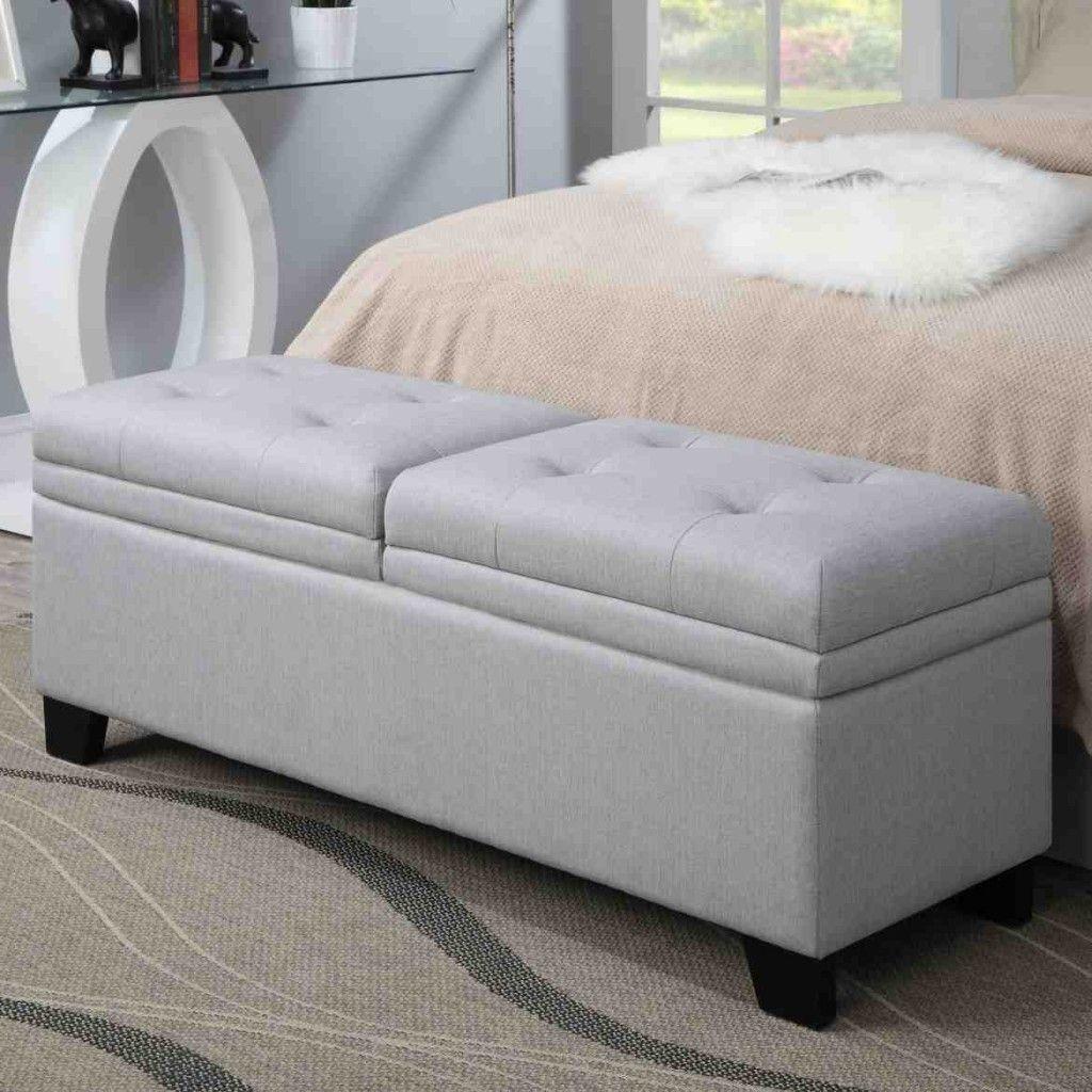 Upholstered Bedroom Storage Bench   Bedroom Storage Bench ...