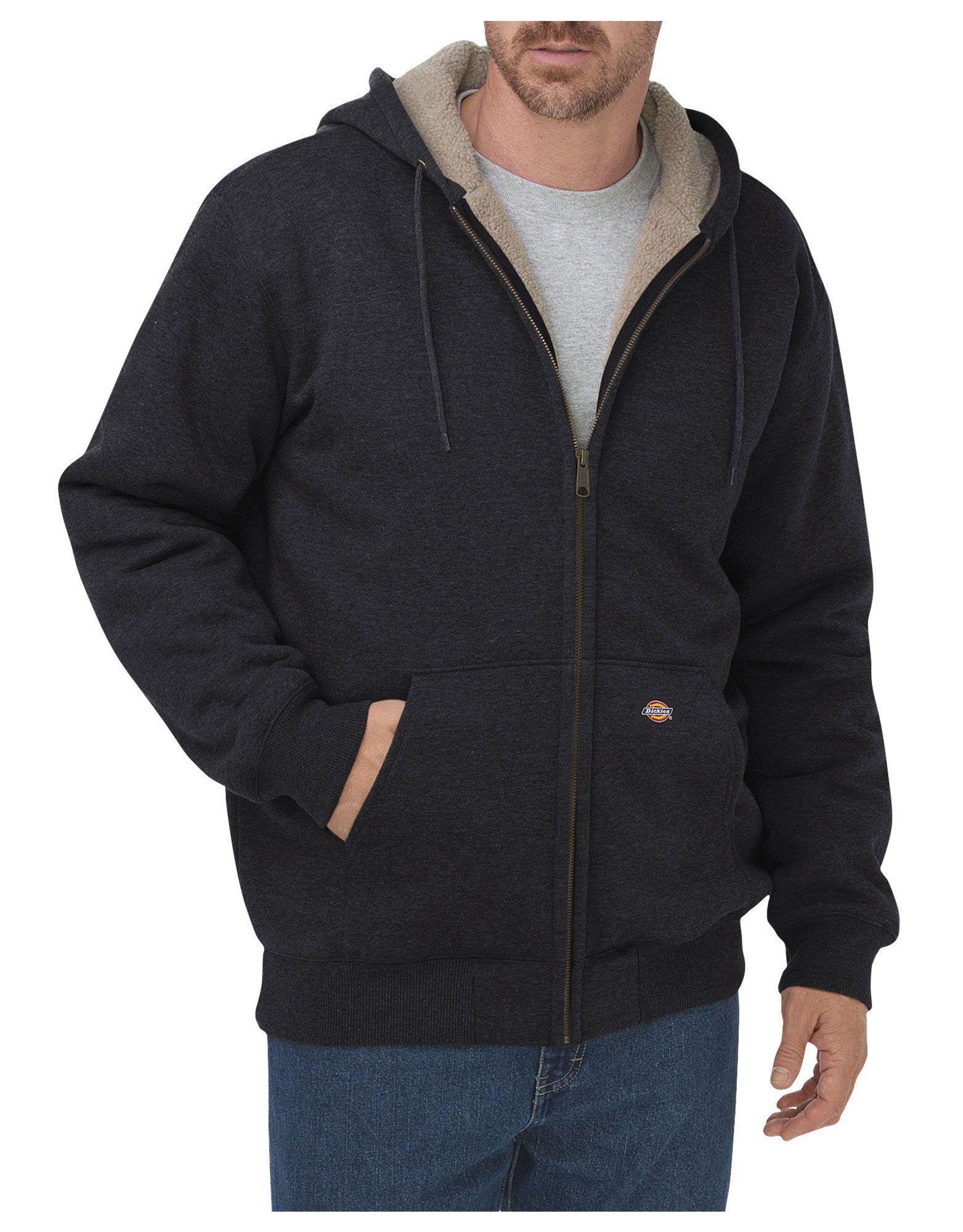 f7925c01a Sherpa Lined Fleece Hoodie, Black | M's Hoodies | Fleece hoodie ...
