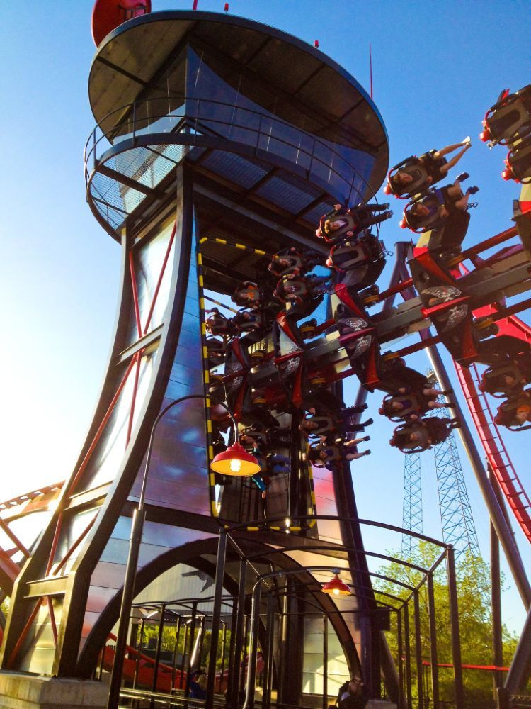X Flight Photo From Six Flags Great America Coasterbuzz Best Roller Coasters Theme Parks Rides Great America