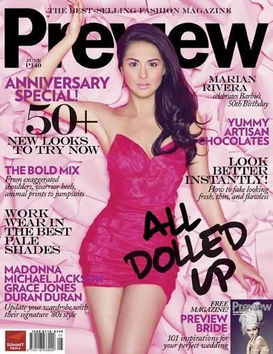 Marian Rivera - Preview Magazine [Philippines] (June 2009)