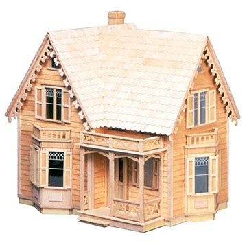 Westville 1 12 Scale Dollhouse Kit Includes Shingles And Siding Assembled Dimensions 25w X 22h X 17d Inch Wooden Dollhouse Kits Wooden Dollhouse Play Houses