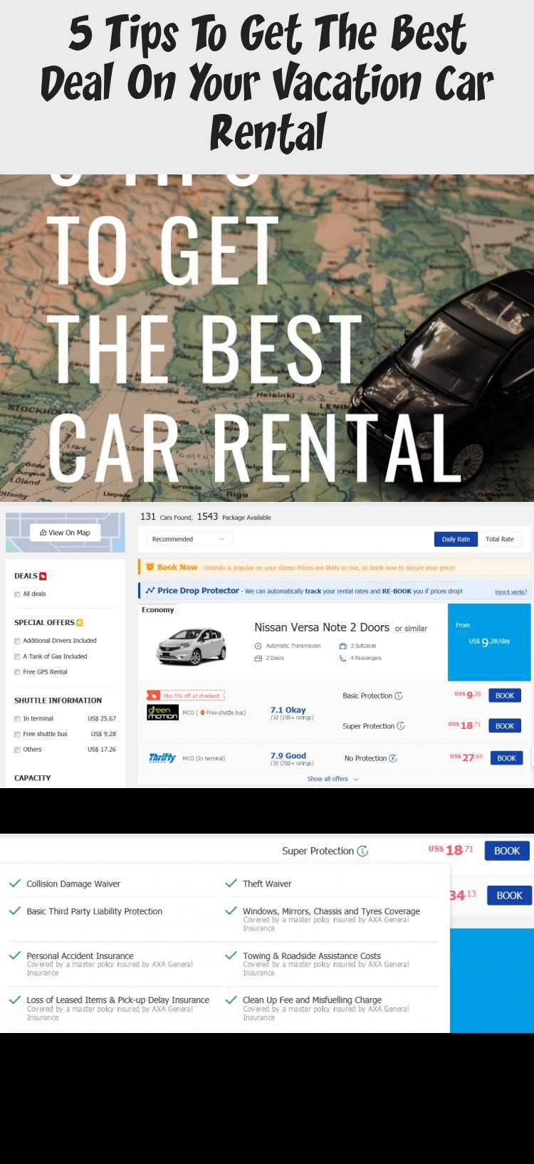 5 tips to get the best deal on your vacation car rental in