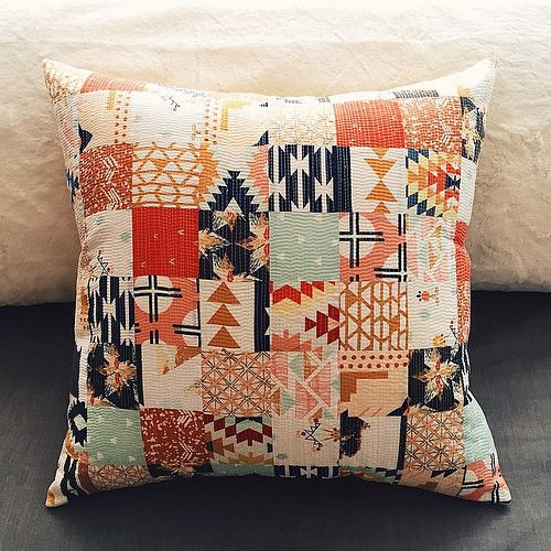 I also made a patchwork pillow using prints from #wandererfabric and #Arizonafabric. | Flickr - Photo Sharing!
