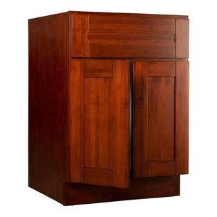 Brazilian Cherry Shaker Bamboo Kitchen Cabinets ...