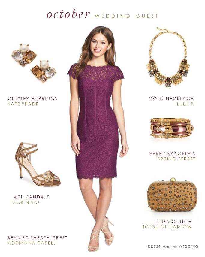 What To Wear An October Wedding A Clic Tail Dress Style For Fall