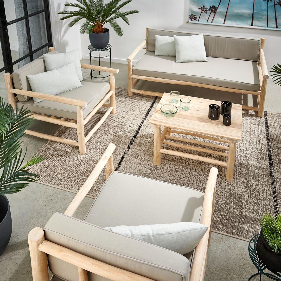 Teak Table Lounge Naturel H 45 X Long 70 X P 50 Cm En 2020 Lounge Salon Canape Salon En Palettes