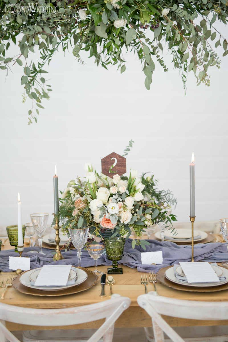 Natural & Rustic Wedding Theme With Greenery | Wedding table ...