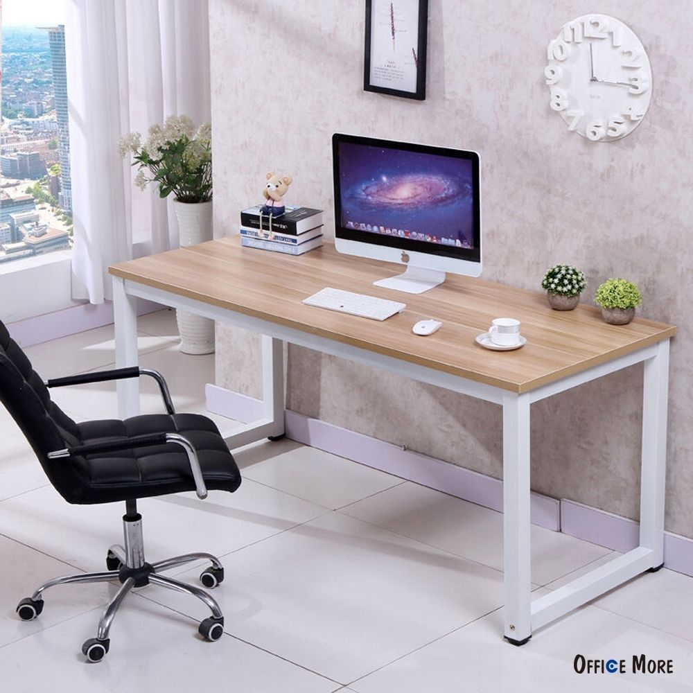 Computer desk pc laptop table wood workstation study home office furniture officemore contemporary