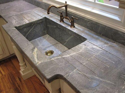 Antique Soapstone Slate Sinks Love The Continuous Backsplash