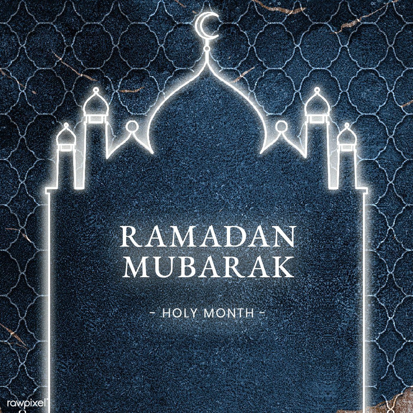 Festive Ramadan Mubarak Blessing Card Template Free Image By Rawpixel Com Katie Ramadan Mubarak Ramadan Eid Mubarak Greeting Cards