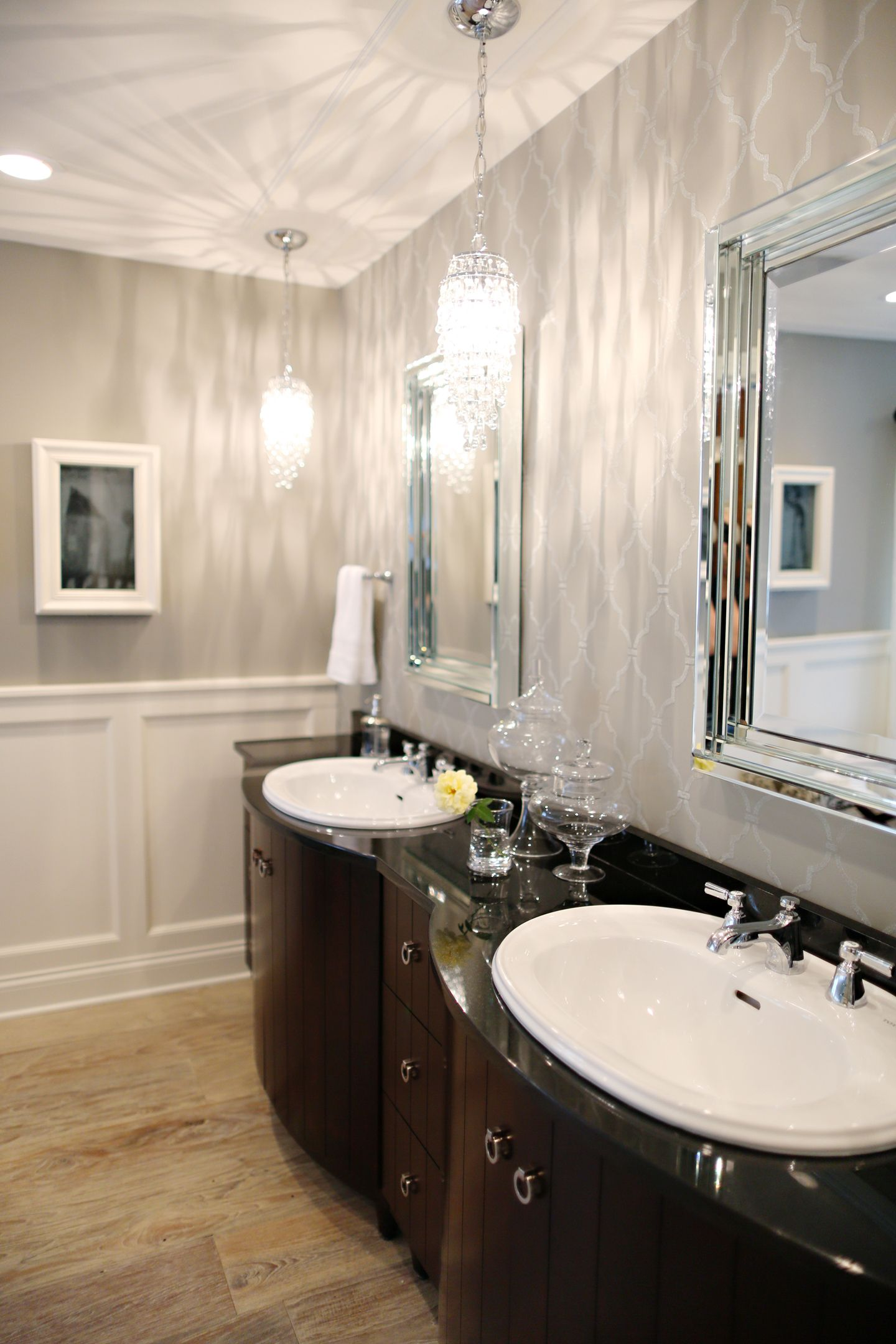 Our Raindrop Crystal Pendant on Bath Crashers... http://www ...