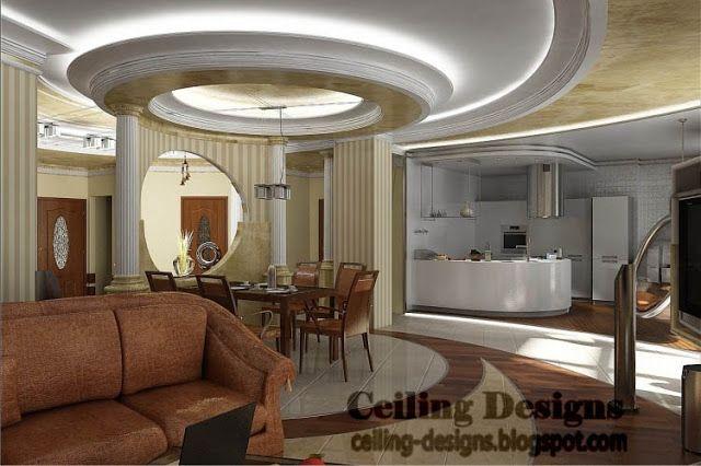 Gypsum Ceiling Designs  Kitchen & Living Room  Pinterest Gorgeous Interior Design Ceiling Living Room 2018