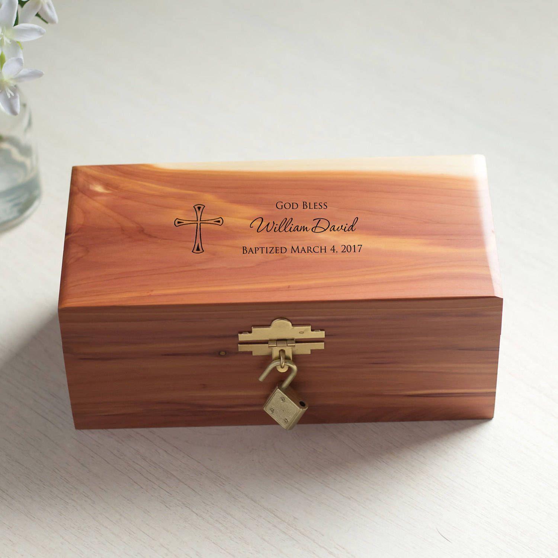 personalized baptism keepsake box custom engraved baptism gift