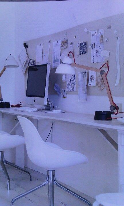 Lang bureau - lang prikbord