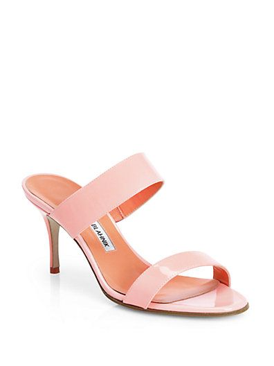 I'll take these in the peach color and the pastel blue color! Thanks! #ManoloBlahnik