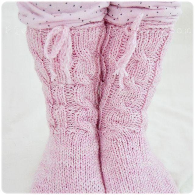 Pink Sock Slippers . Lintu