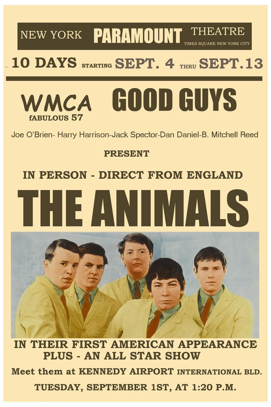The Animals Concert Poster, 1964