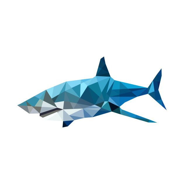 Awesome Geometric Shark Design On Teepublic Gifts