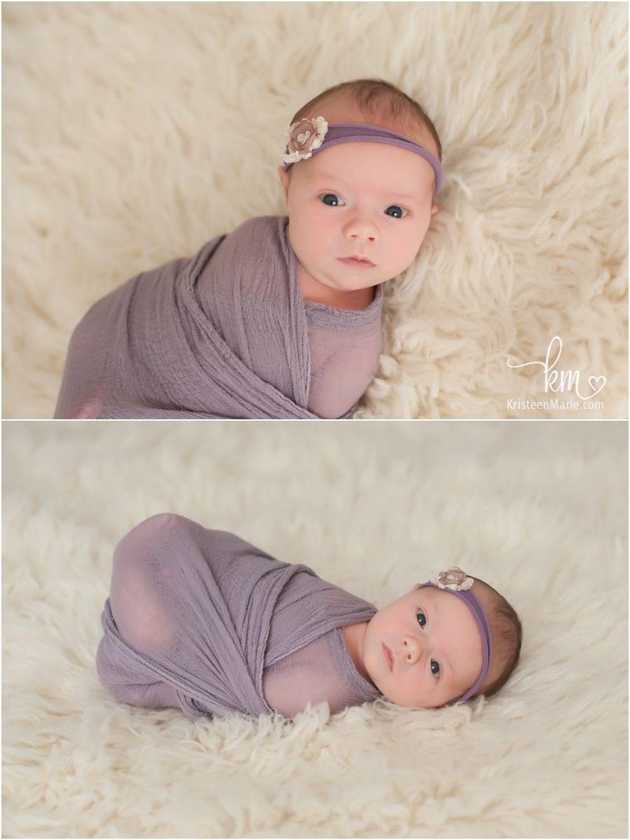 awake newborn baby girl - awake newborn photography poses