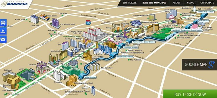 Strip Hotels Graphical Satellite Overview Mgm Sahara Monorail: America Map Centered On Troon At Codeve.org