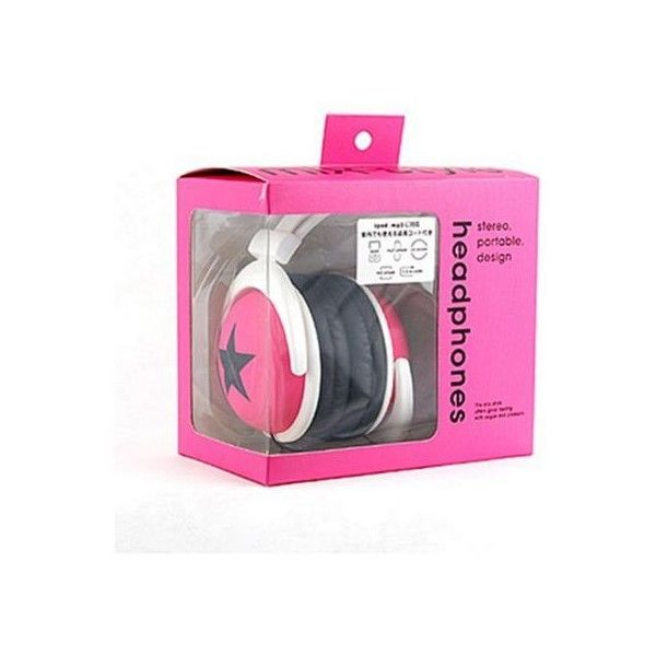 mix-style (Star-Pink) Stereo Headphones Star - Pink ($50) ❤ liked on Polyvore featuring accessories, electronics, headphones, pink, other and women