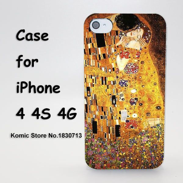 Kiss by Gustav Klimt Design hard transparent clear Skin Cover Case for iPhone SE 4 4s 4g 5 5s 5g 5c 6 6s plus