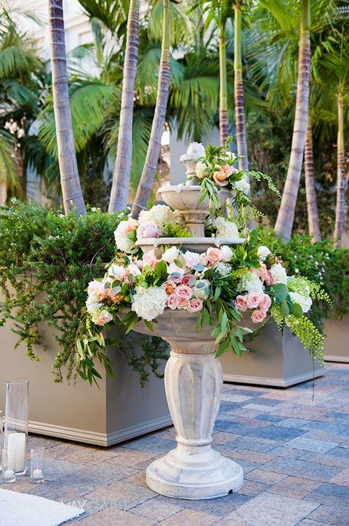 Real Weddings Rose Centerpieces Ceremony Decorations Wedding