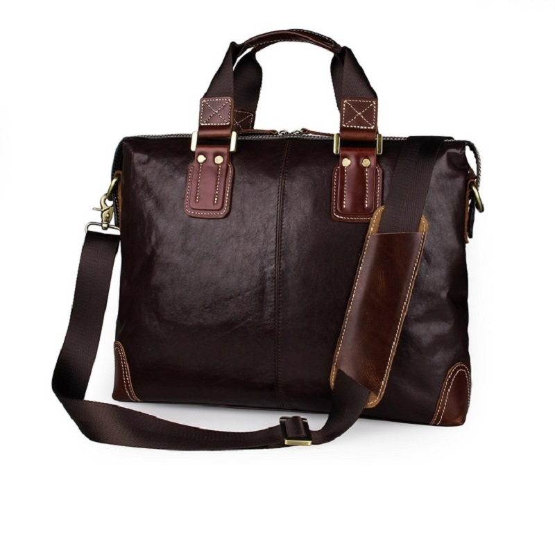 81.35$  Watch here - http://aliwbf.worldwells.pw/go.php?t=32646050098 - 2016 New High Quality 100% Genuine Vintage Leather Handbag Briefcase Men's Laptop Bag Messenger Shoulder Bag 2 Kinds Styles 7293 81.35$